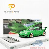 Timothy & Pierre TP 1:64 Prosche 993 RWB Rough Rhythm Green Resin Model Car