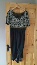 virgos lounge dress, black with sequins. New. Size 16 but small fitting