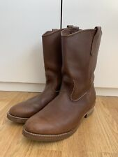 Red Wing Pecos UK 11 45 US 12 V. good condition Brown cowboy boots MADE IN USA