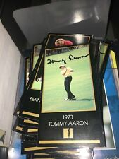 Tommy Aaron Signed 1973 Black Masters  Golf Card
