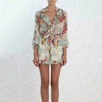 Summer Chic Style Womens Tropical Floral Printed Jumpsuit Romper Short Trousers