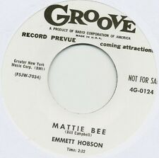 Emmett Hobson - Mattie Bee / Where Is Joe? - Groove RE