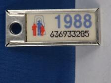 ONTARIO WAR AMPS CANADA LICENSE PLATE 1988 636933205 TAG KEYCHAIN  COLLECTOR