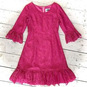 Vintage 1960's Designer Montigo Bay Lace Evening Dress Size 10