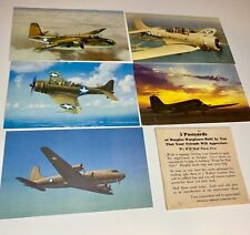 World War 2 Douglas Aircraft Warplane Army Air Force Vintage WWII Postcard Lot 5