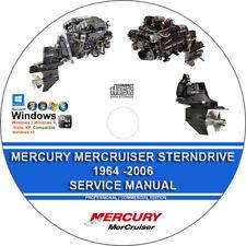 Mercury Mercruiser Sterndrive 1964 - 2006 Service Repair Manual on CD