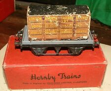 Hornby Trains. O Gauge. Truck & Container. LNER. Poor condition Boxed.