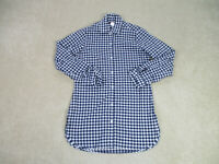 Tommy Bahama Button Up Shirt Womens Small Blue White Long Sleeve Casual Ladies