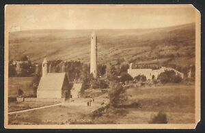 """Glendalough County Wicklow 1940's Divided Back PC by Valentine """"Sepia Type"""" USED"""