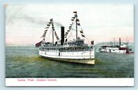 Seattle, WA - ALASKAN STEAMER DOLPHIN FLYER - EARLY 1900s STEAMSHIP POSTCARD