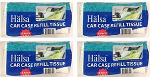Halsa Auto Visor Tissue Refills for Tempo Visor 4 Bags Total of 12 Refills