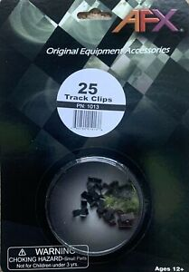AFX 1013 Track Clips 25 Pack.  Brand New In Packaging.