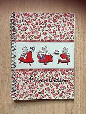 Vintage Sanrio Marron Crème 1985 Ordinateur Portable Bloc-Notes Carnet Memo Agenda scolaire papier