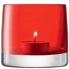 LSA Couleur Claire Bougeoir H8.5cm - Rouge