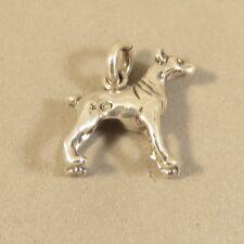 .925 Sterling Silver 3-D Doberman Pinscher Charm New Puppy Dog Pendant 925 Dg55