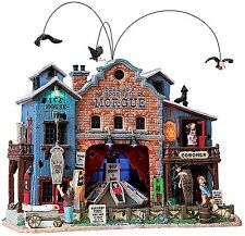 Lemax 85668 DEAD AS A DOORNAIL MORGUE Spooky Town Building Sights & Sounds I