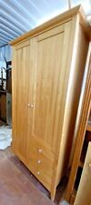Double Wooden Wardrobe with hanging rail, 3 drawers and shelf space