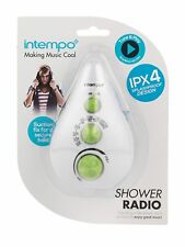 Intempo Teardrop Shower Radio,Dual Band AM/FM,Enjoy Great Music Assorted Colour
