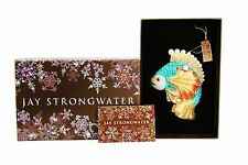 JAY STRONGWATER SEA LIFE FISH OCEANA GLASS CHRISTMAS ORNAMENT SWAROVSKI NEW BOX
