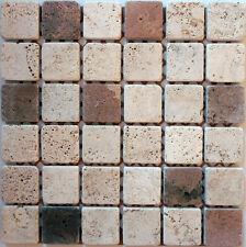 Rosone rosoni incollati su rete piastrelle in marmo 31x31 con tessere 5x5mix