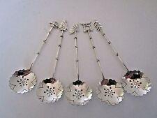 Japonais Sterling Silver figure d'une demi-tasse spoons... 950 pureté...