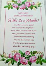 Unused Mother Mom Valentine Greeting Card Pink Flower Mama Mommy