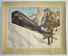 Vintage Willard R Cox Print Poster Picture Cab-in-Front Locomotive Train 18 x 22