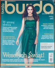 More details for burda style sewing pattern magazine in polish december 12/2013