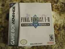 Final Fantasy I II Dawn of Souls GBA Nintendo Game Boy Advance NEW SEALED