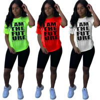 New Women's Summer Short Sleeves Letter Print Casual Street Style T-shirt Tops