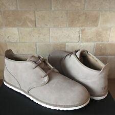 UGG Maksim Brindle Grey Suede Sheepskin Chukka Ankle Boots Shoes Size US 16 Mens
