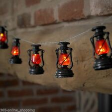 Set of 10 Battery Operated Miners Lantern String Lights