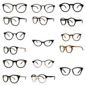 Vintage  Style Remade Clear Lenses Glasses Optical Frames Fancy Dress Fashion