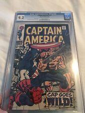 Captain America #106 CGC 9.2 NM Unrestored Marvel OFF-WHITE/WHITE Pgs