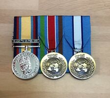 Gulf War, UN Bosnia, UN Cyprus Court Mounted Full Size Medals, Army, Military