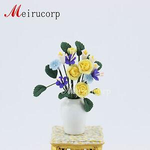 Dollhouse decoration 1:12 scale miniature flower beautiful Yellow flower Model