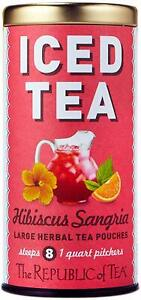 Hibiscus Sangria Iced Tea by The Republic of Tea, 8 Pouches