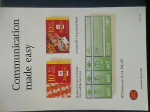 ROYAL MAIL A4 POST OFFICE POSTER 1995 COMMUNICATION MADE EASY BOOKLETS POS118/95