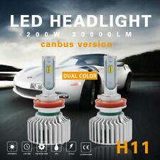 2x H11/H9/H8 Dual Color LED Headlights Bulb Kit 6000k 3000k Canbus Beam Foglamp