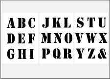 ABC Schablone Nr.5 große Druck Buchstaben 6cm hoch Alphabet 3 Schriftschablonen