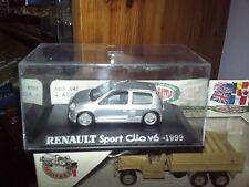 IXO RENAULT CLIO V6 SPORT GRISE de 1999 NEUF BOITE