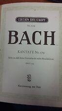Bach: Cantata 179: Music Score (LQ4)