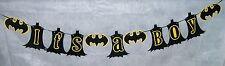 "Hand Crafted Batman ""It's a Boy"" /Super Hero Banner / Batman Baby Shower  (595B)"