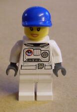 Lego Space Port - Spacesuit Frau Figur Weltraum Mechaniker Ingenieur Kappe Neu