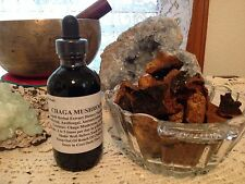 CHAGA MUSHROOM Double Extracted Tincture 4floz Sealed Wild Harvested From Alaska