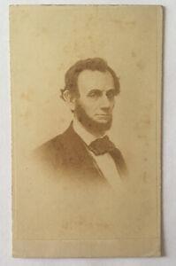 Abraham lincoln-Vintage portrait Card, Joseph W. Ward, Back Stamp 2.5x3.75  COA