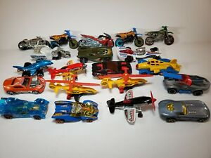 Hot Wheels Bikes Motorcycle Planes Cars Lot of 20 Exotic Some Rare HTF Diecast