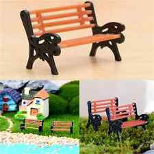 New Mini Garden Ornament Miniature Park Seat Bench Craft Fairy Dollhouse Decor