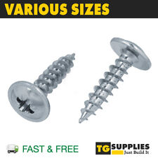 Flanged Wafer Head Self Tapping Screws, Pozi Flange Tappers Zinc Timber Wood
