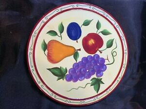 Sonoma Fruit Image Cheese Plate with grapes, apple, pear plum a711